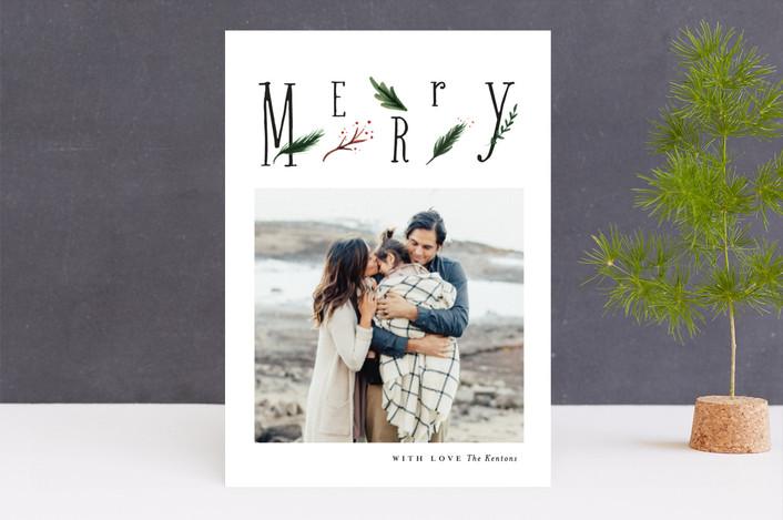 """cornetto"" - Holiday Photo Cards in Rosemary by chocomocacino."