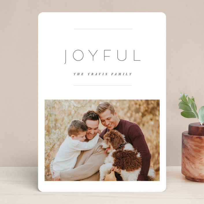 """the edit"" - Holiday Photo Cards in Linen by Design Lotus."