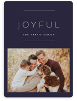 This is a purple holiday photo card by Design Lotus called the edit with standard printing on smooth signature in standard.