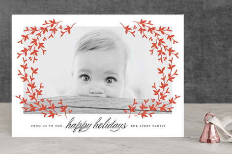 Lovely Laurel Holiday Photo Cards