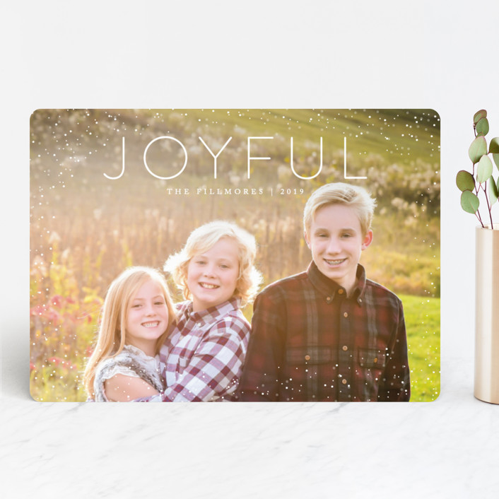 """""""Joyful"""" - Holiday Photo Cards in Snow by Kate Sorensen."""