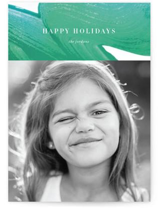 Viridian gloss Holiday Photo Cards