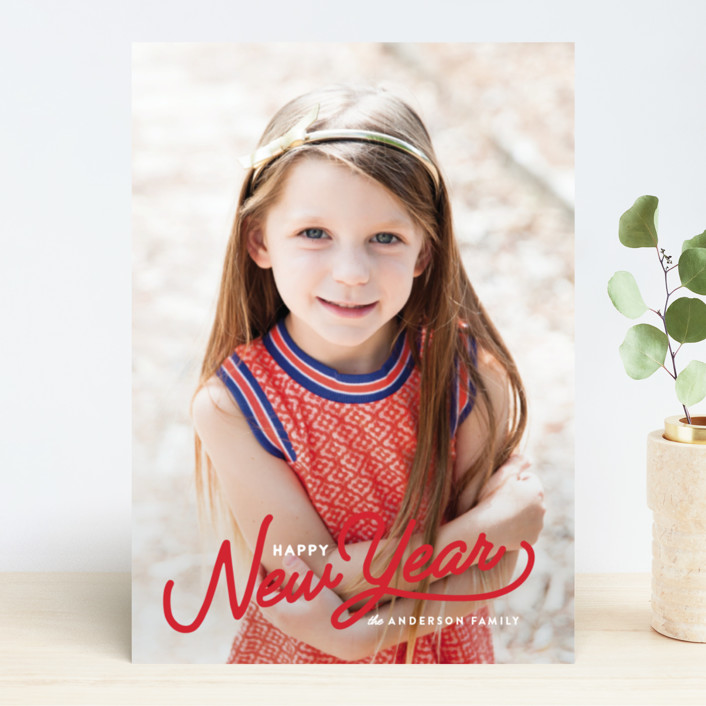 """""""Vintage Christmas Script"""" - Vintage Holiday Photo Cards in Snow by Pistols."""
