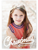 Vintage Christmas Script Holiday Photo Cards By Melissa Egan of Pistols