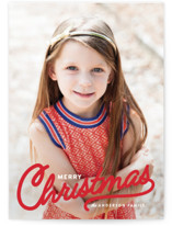Vintage Christmas Script Holiday Photo Cards By Pistols