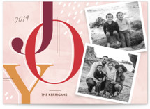 This is a pink holiday photo card by Paige Rothhaar called Journaled with standard printing on smooth signature in standard.