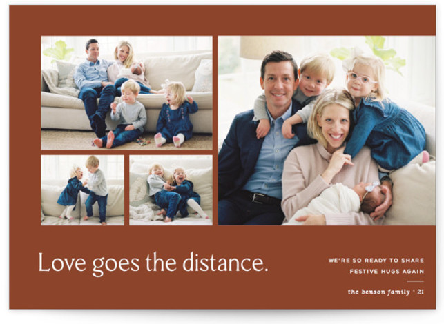 Love Knows No Distance Holiday Photo Cards