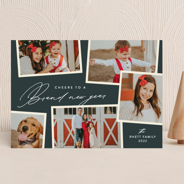 """Holiday Scrapbook"" - Holiday Photo Cards in Lagoon by Jennifer Postorino."