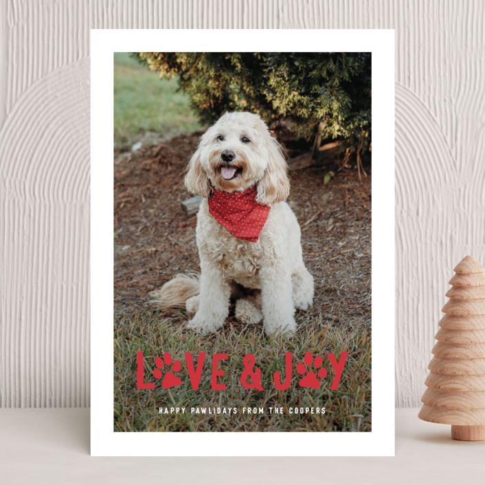 Puppy Love and Joy Holiday Cards