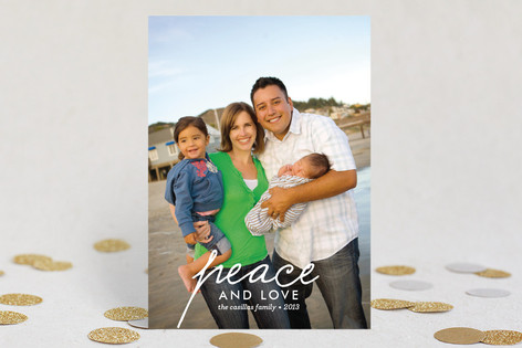 Merry Swoosh Holiday Photo Cards