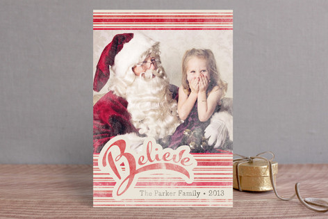 Just Believe Holiday Photo Cards