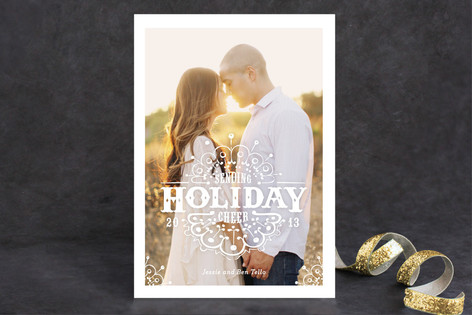 White Christmas Holiday Photo Cards