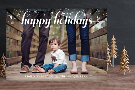 Snowfall Holiday Photo Cards