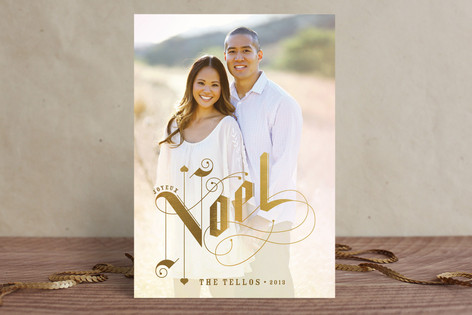 Gilded Letters Holiday Photo Cards