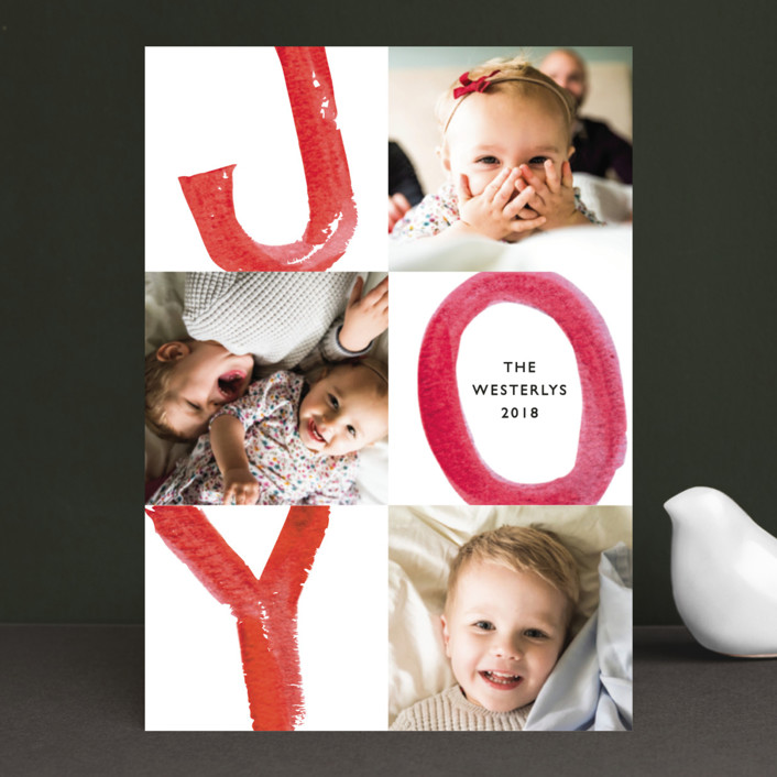 """Loud and Clear"" - Holiday Photo Cards in Candy Cane by Mansi."