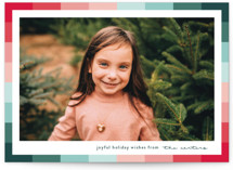 This is a green holiday photo card by Lauren Chism called Vibrant Frame with standard printing on smooth signature in standard.