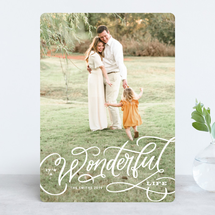"""Wonderful Entwined"" - Holiday Photo Cards in Snow by Kristen Smith."