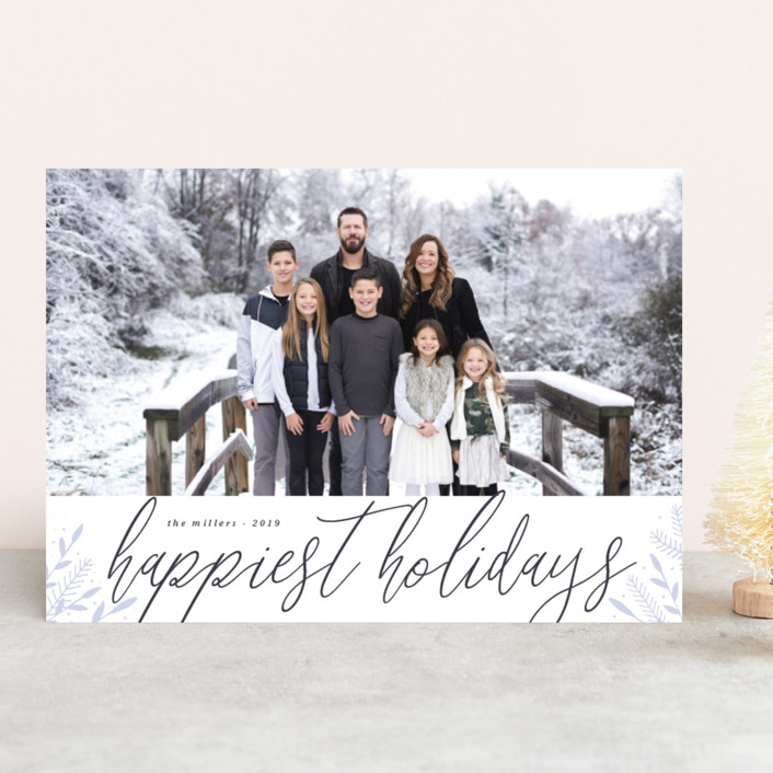 """Snowy land"" - Holiday Photo Cards in Lilac by Kann Orasie."