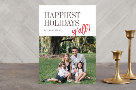 Merry Christmas, y'all Holiday Photo Cards