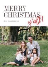 Merry Christmas, y'all Holiday Photo Cards By Ann Gardner