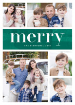 Bright Merry Holiday Photo Cards By Kelly Nasuta