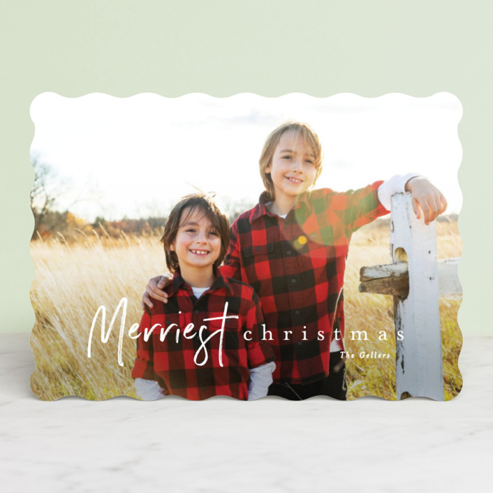 """canoli"" - Holiday Photo Cards in Cloud by chocomocacino."