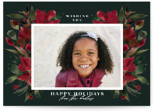 This is a green holiday photo card by Lori Wemple called Holiday with standard printing on smooth signature in standard.