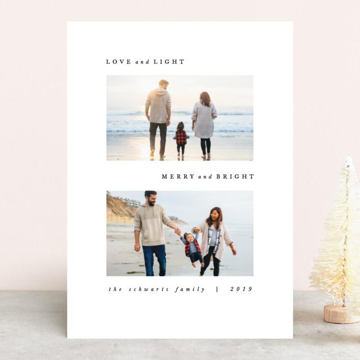 """Tradicion"" - Holiday Photo Cards in Snowfall by carly reed walker."
