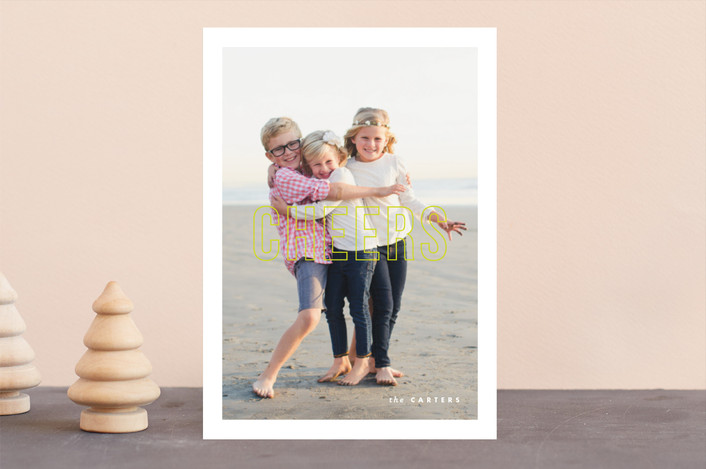 """""""Modern Post"""" - Holiday Photo Cards in Winter by Lauren Chism."""