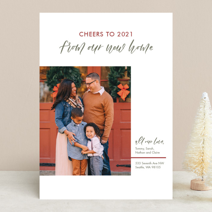 """Our New Home"" - Holiday Photo Cards in Festive by Carolyn Kach."