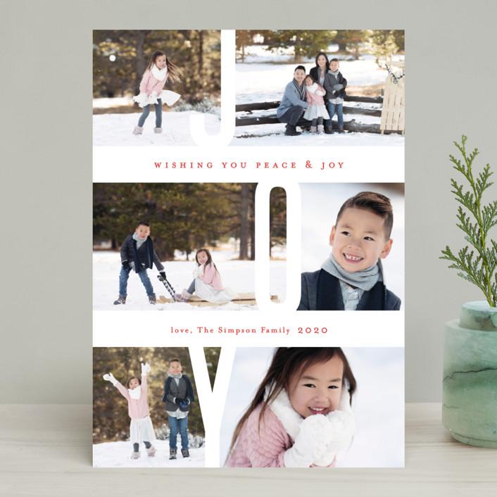 """Captured Joy"" - Holiday Photo Cards in Ash by Jennifer Wick."