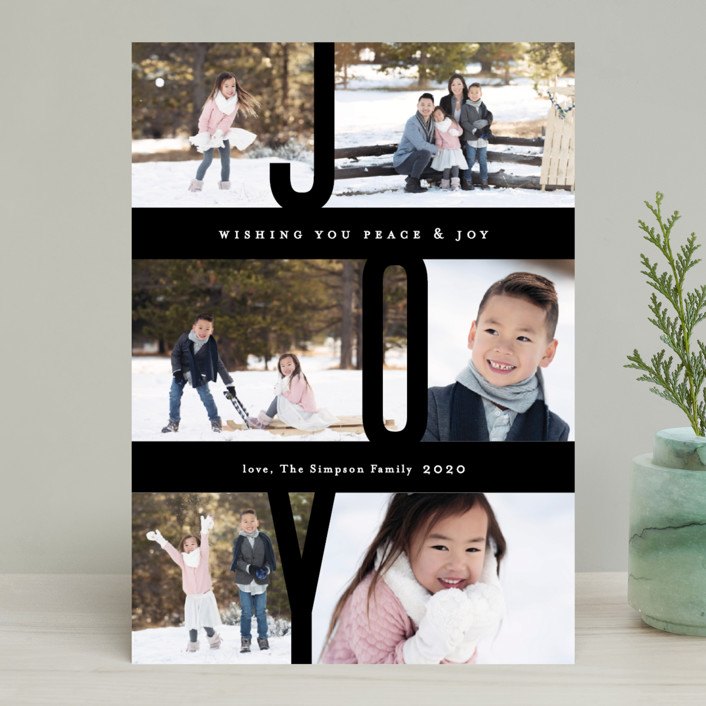 """""""Captured Joy"""" - Holiday Photo Cards in Snow by Jennifer Wick."""