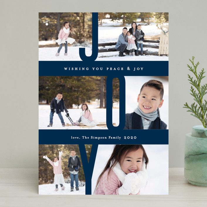 """Captured Joy"" - Holiday Photo Cards in Ash by Jennifer Wick."