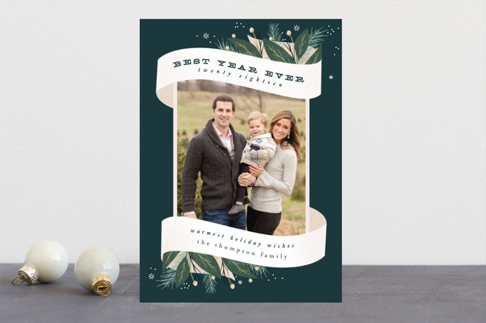 """Wrapped Up"" - Holiday Photo Cards in Forest by Leah Bisch."