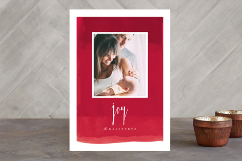 Peaceful Gradient Holiday Photo Cards