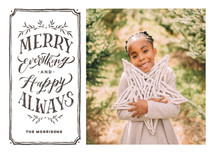 Merry Everything + Happy Always Holiday Photo Cards By Wildfield Paper Co.
