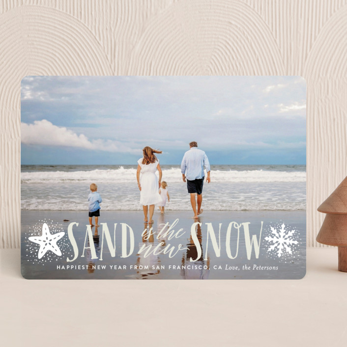 """""""Sand and Snow"""" - Bohemian Holiday Photo Cards in Shaved Ice by Ali Means."""