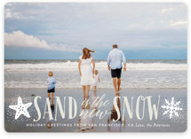 This is a beige holiday photo card by Ali Means called Sand and Snow with standard printing on smooth signature in standard.