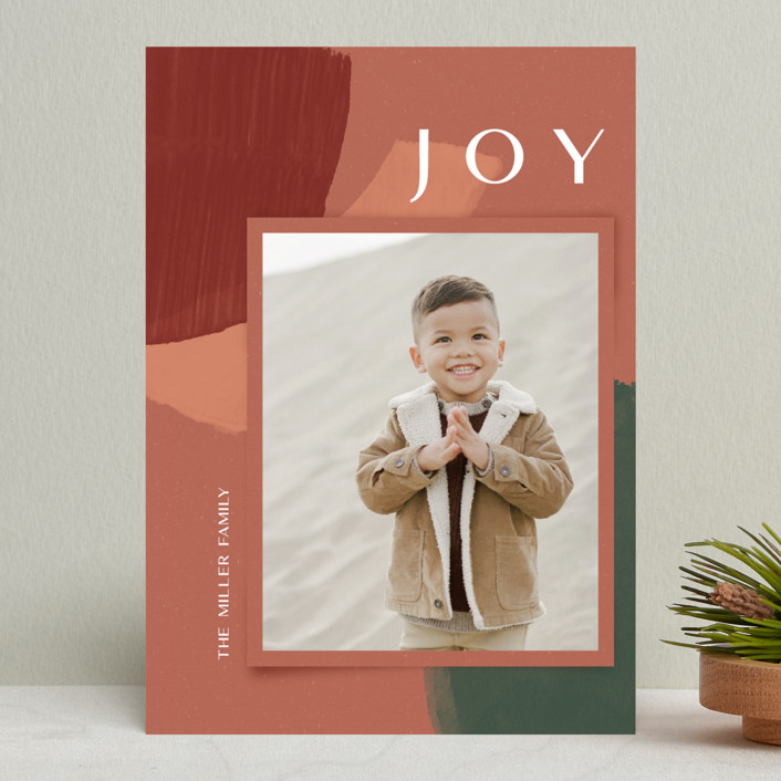 Organic Collage holiday card