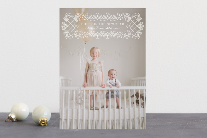 """""""Seasonal Cross Stitch"""" - Vintage Holiday Photo Cards in Snow by Ann Gardner."""