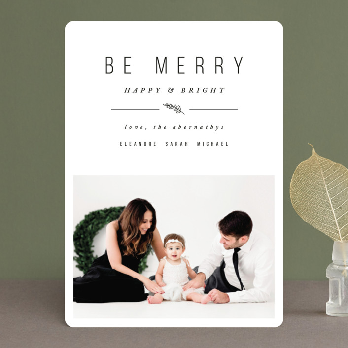 """Simple & Merry"" - Holiday Photo Cards in Snow by Pistols."