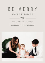 Simple & Merry Holiday Photo Cards By Pistols