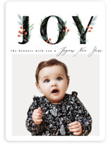 This is a black holiday photo card by Karidy Walker called Winter's Garden with standard printing on smooth signature in standard.