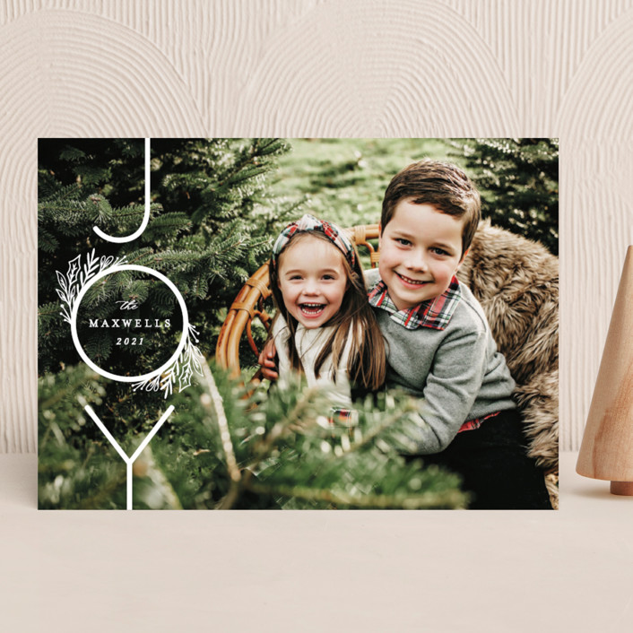 """""""Infinite Joy"""" - Holiday Photo Cards in Snow by Ally Madison."""