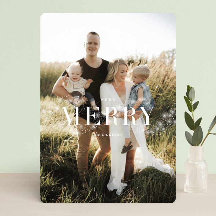 """Magical Merry"" - Holiday Photo Cards in Snow by Kristie Kern."