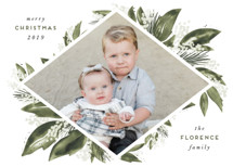 Seasonal Greenery Holiday Photo Cards By Leah Bisch