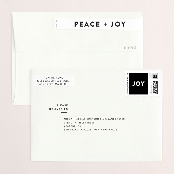 Editorial Holiday Holiday Photo Cards by Dozi