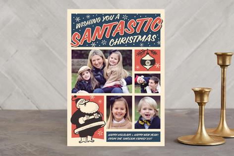 Santastic Christmas Holiday Photo Cards