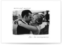 This is a white holiday photo card by Lindsay Kelly Art called Painted Edge with standard printing on pearlescent in standard.