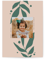 This is a pink holiday photo card by Olivia Goree called encompassing with standard printing on triplethick in standard.